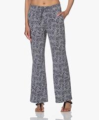 JapanTKY Myza Straight Travel Jersey Pants - Mosaic Black/White