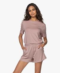 Organic Basics Tencel Jersey T-shirt - Dusty Rose
