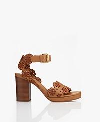 See By Chloé Amalfi Block Heel Sandals  - Rust