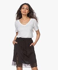 Closed Extra-fijn Katoenen T-shirt - Wit