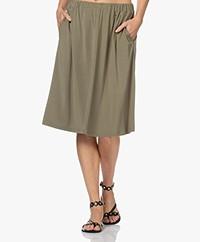 LaSalle Lyocell Jersey A-line Skirt - Moss