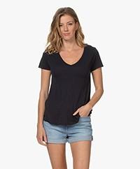 American Vintage Jacksonville V-neck T-shirt - Navy