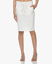 Woman by Earn Hadewych Ponte Jersey Pencil Skirt - Off-white