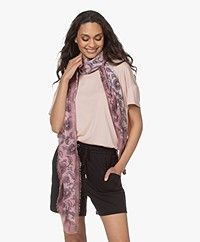 Repeat Modal and Silk Print Scarf - Gloss