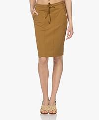 Woman by Earn Hadewych Ponte Jersey Pencil Skirt - Mustard