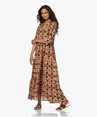 by-bar Julia Batik Crepe Viscose Dress - Beige