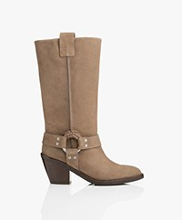 See By Chloé Crosta Suede Boots - Taupe