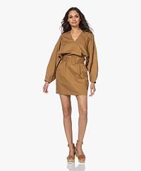 By Malene Birger Diosmah Cotton Dress with Belt - Golden Beige