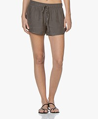 James Perse Silk Charmeuse Shorts - Tire