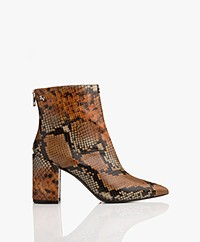 Zadig & Voltaire Glimmer Wild Snake Print Ankle Boots - Multicolor