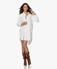 James Perse Cotton Babyroy Shirt Dress - Ivory